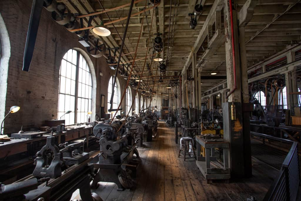 heavy machine shop at Thomas Edison National Historical Park