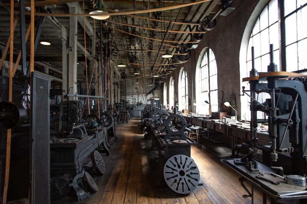 heavy machine shop at Edison National Historical Park