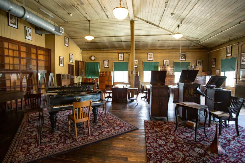 the music room at Thomas Edison National Historical Park