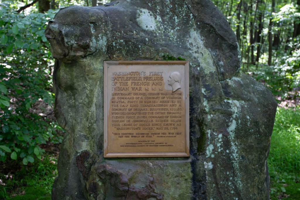 Jumonville Glen, site of the first battle of the French and Indian War