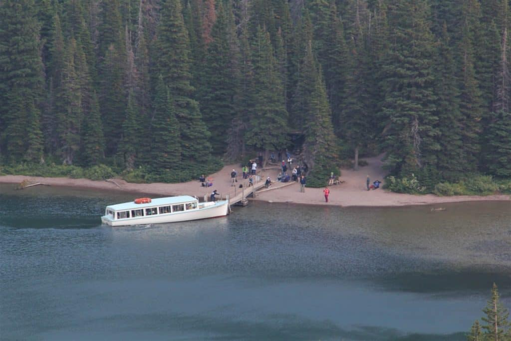 boat to Grinnell Glacier